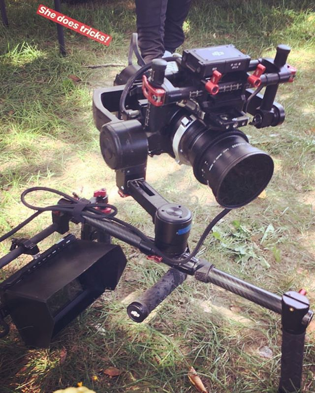 A simple clamp turns your gimbal into a shoulder rig. Photo by @kcshotme