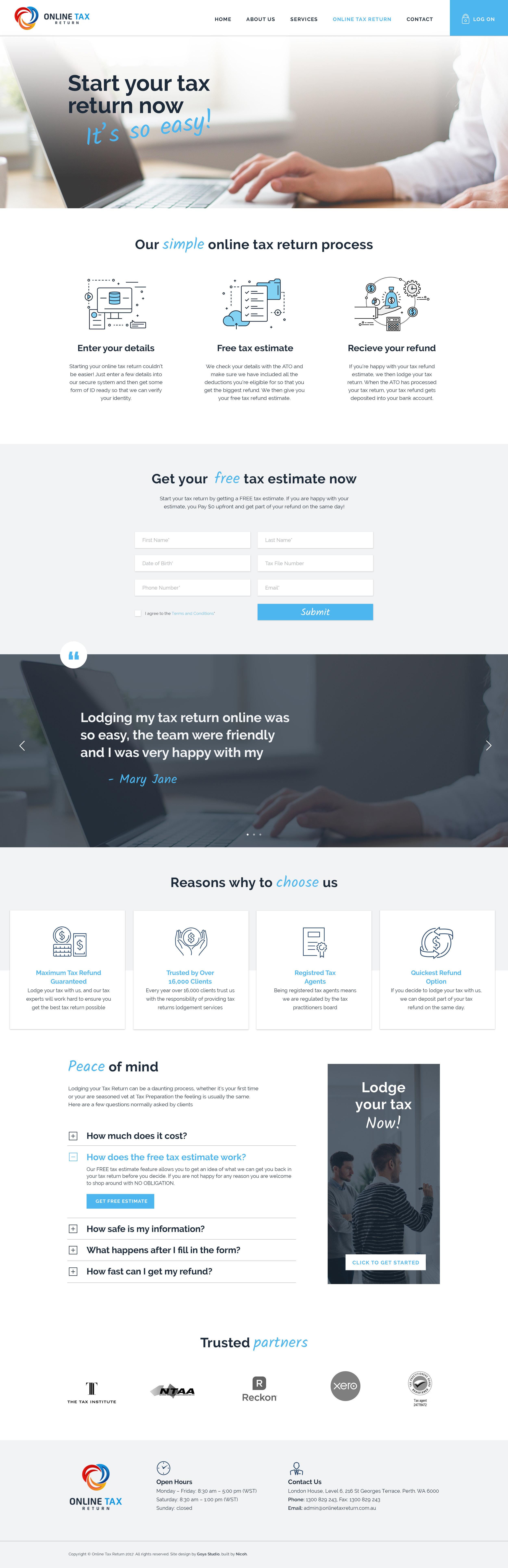 NICO001 Online Tax Return Website - Landing Page.jpg