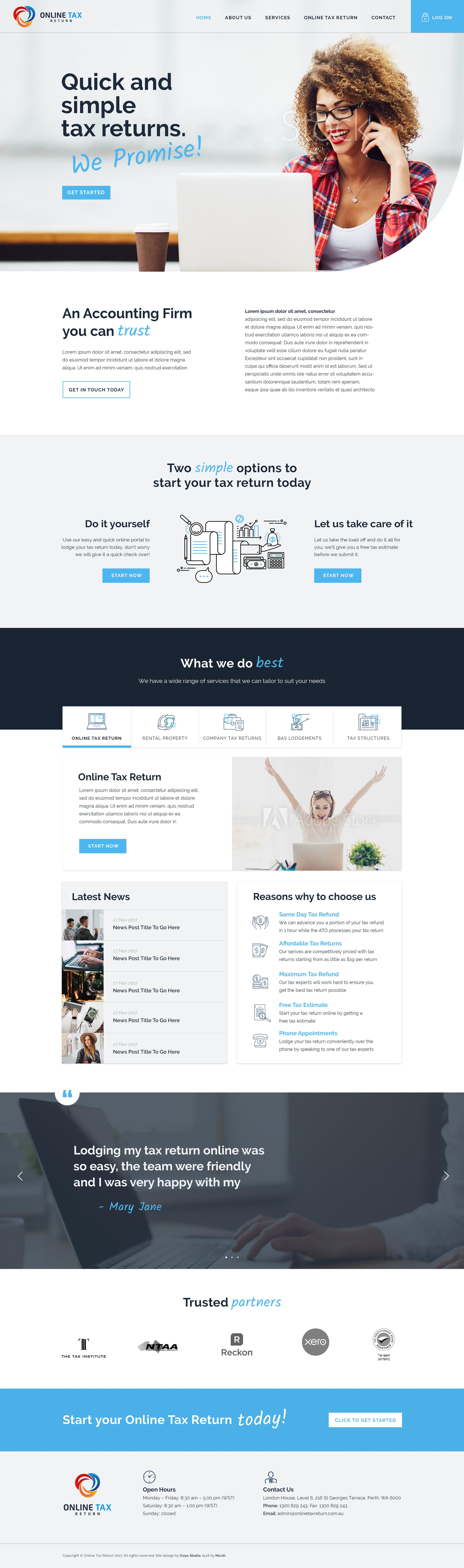 NICO001 Online Tax Return Website - Home.jpg