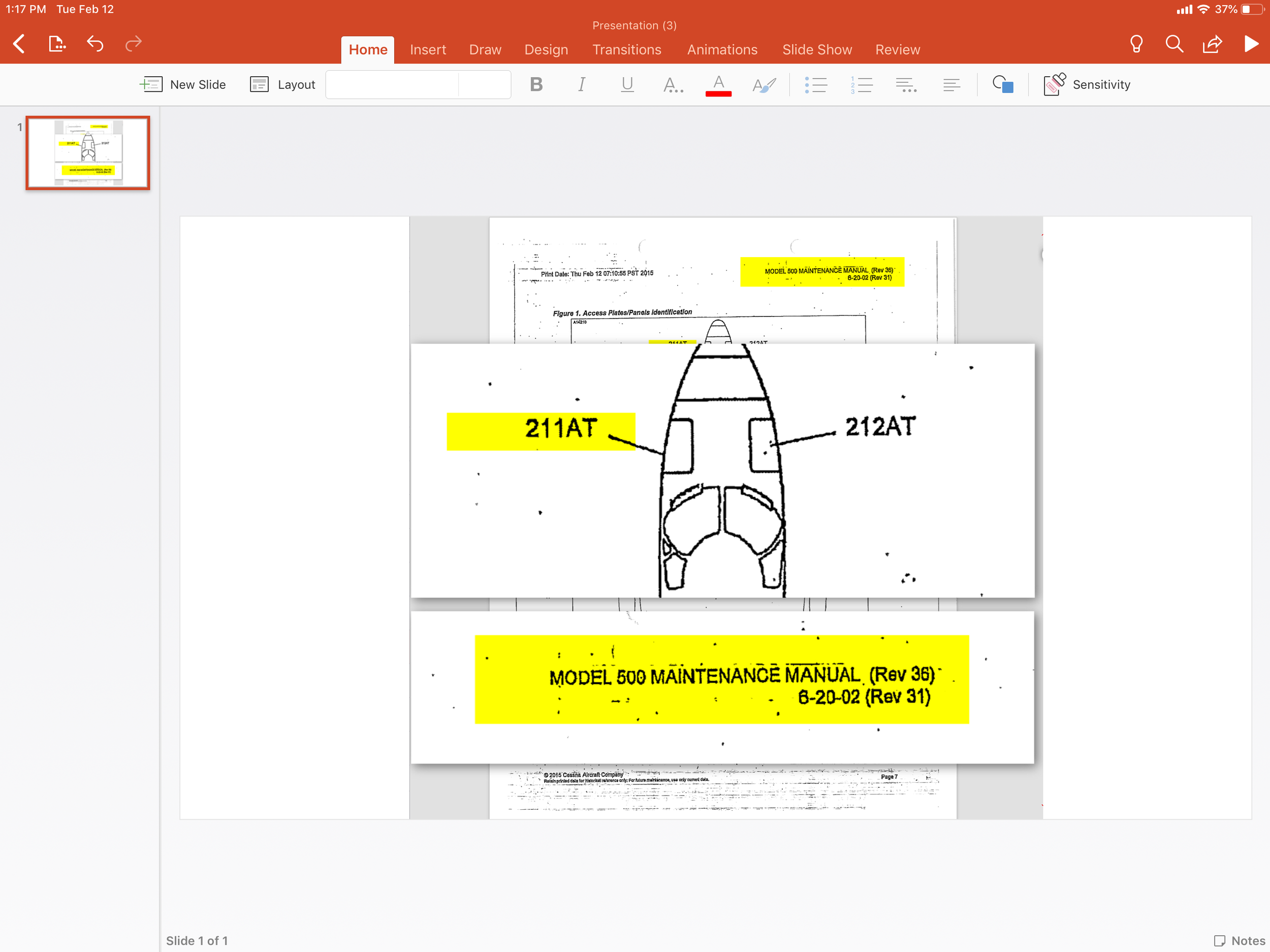 The image you created in TrialPad will now embed on your PowerPoint slide. - You are ready to present your treated document in PowerPoint.