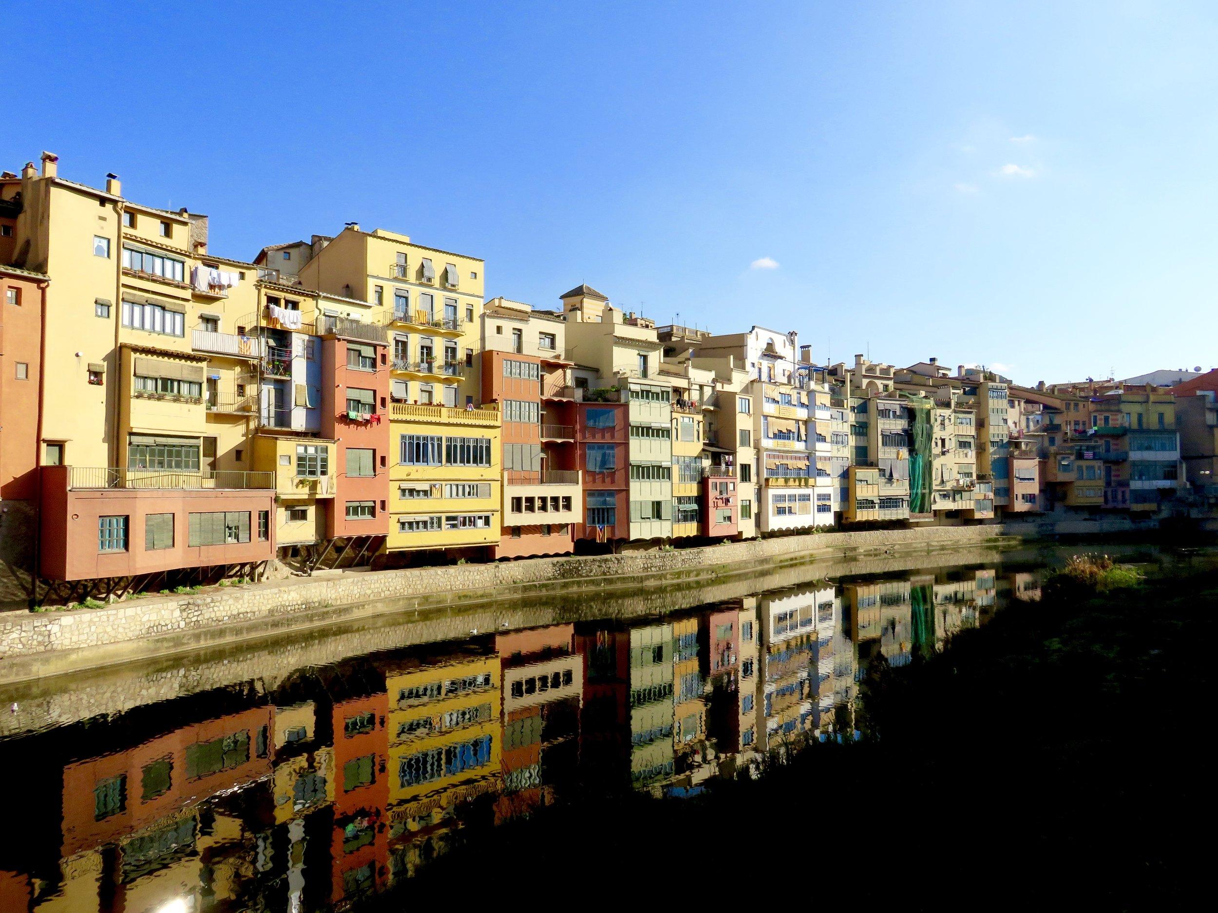 Girona on the River Onyar, Spain