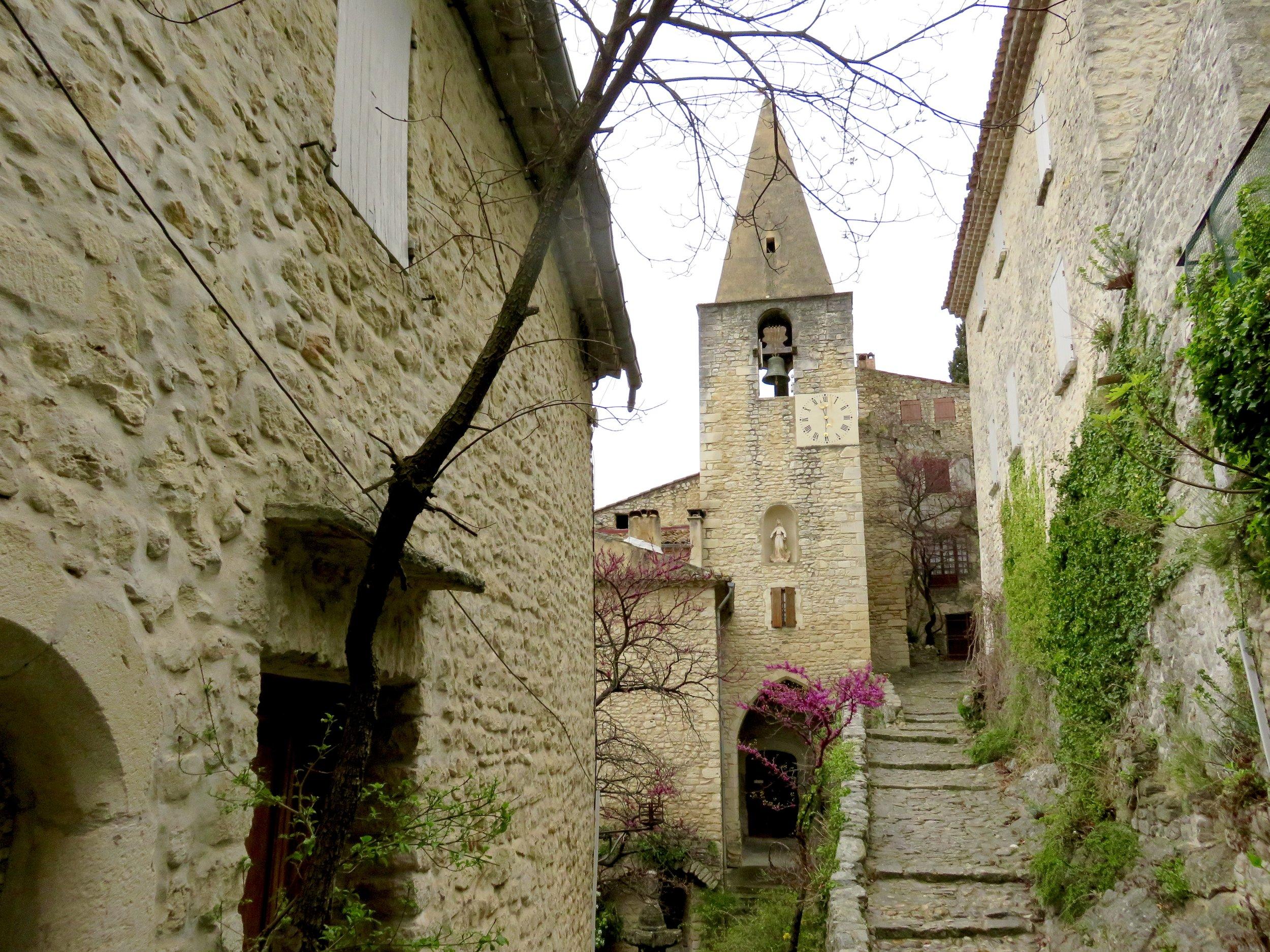 Adorable village of Crestet