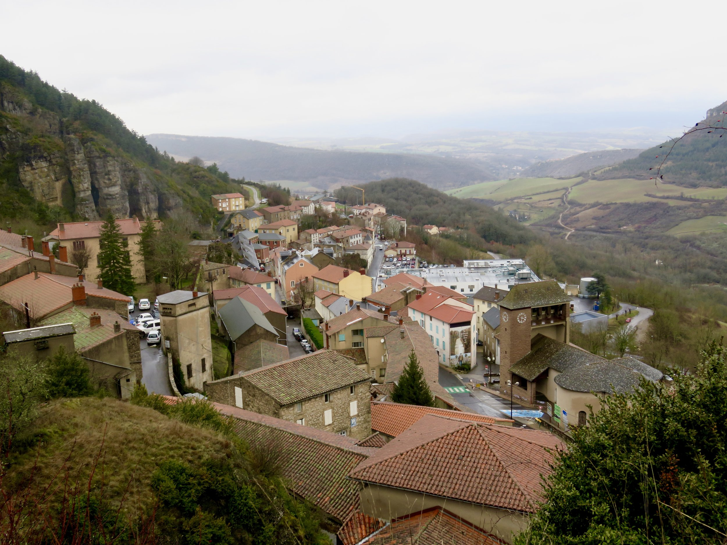 """Village of Roquefort-sur-Soulson, home of the famous """"King of Cheeses"""""""