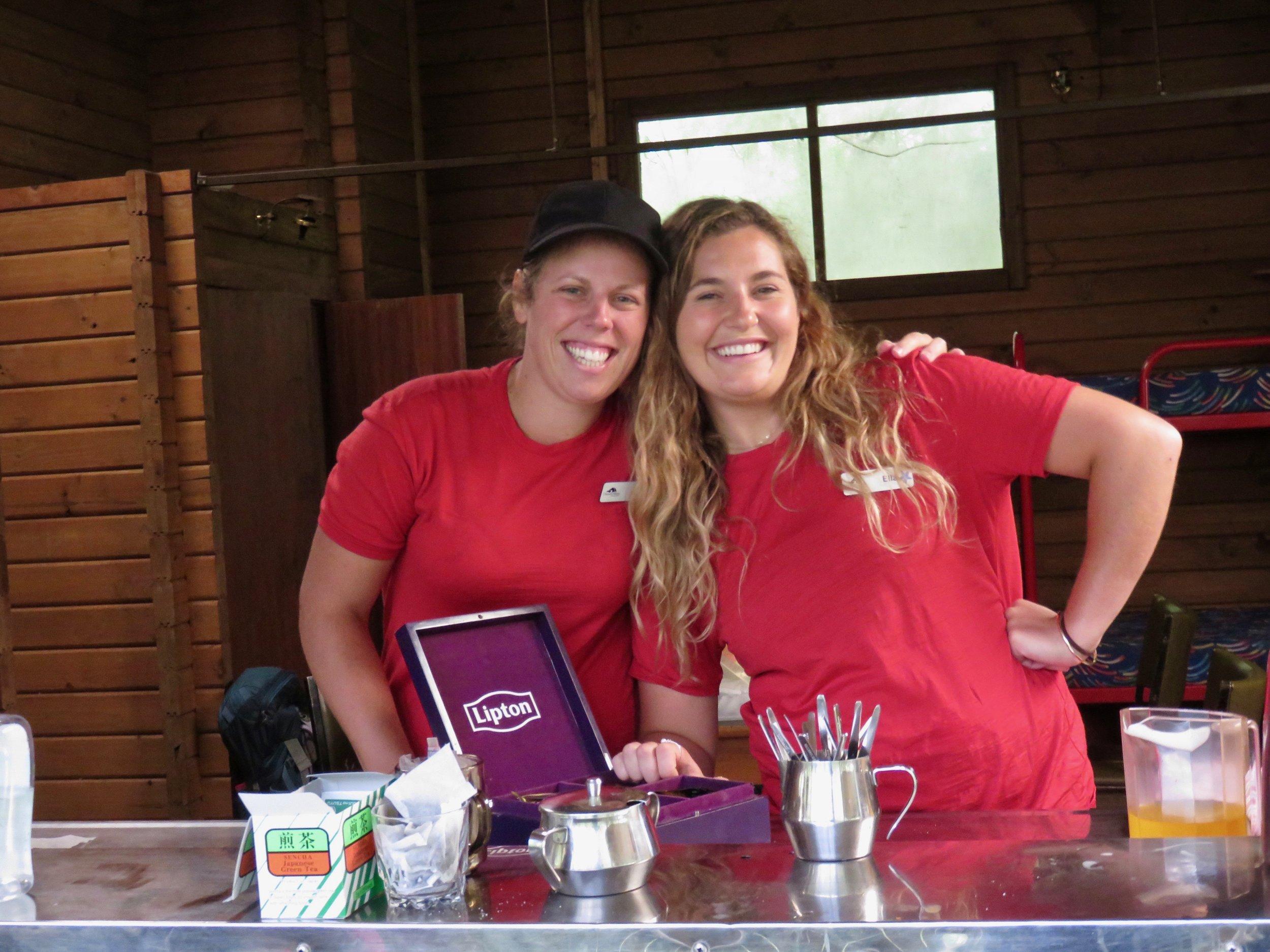 My Medical Team: Guides Jodi (L) & Ella (R)