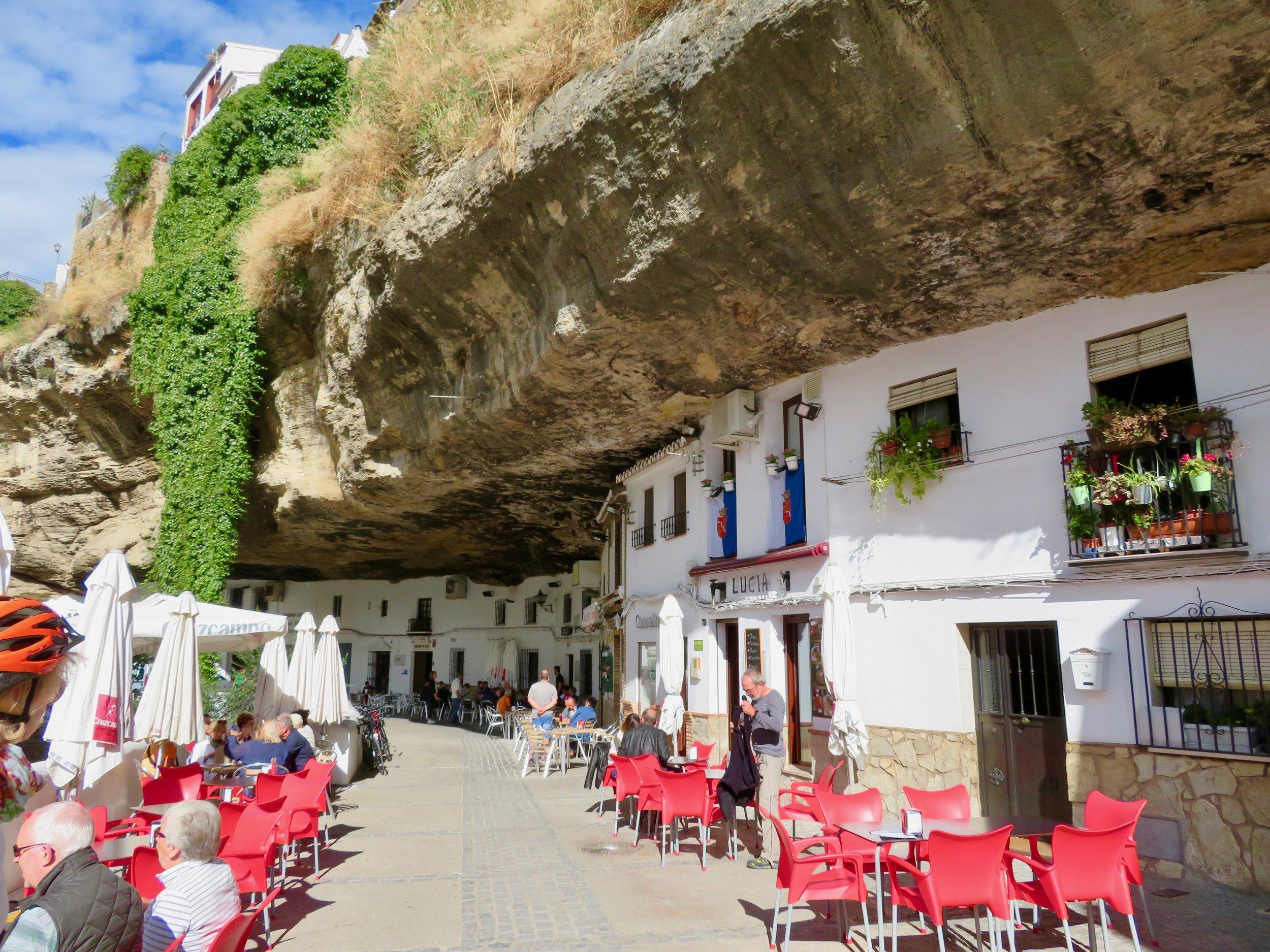 The cave-houses of Setenil de las Bodegas