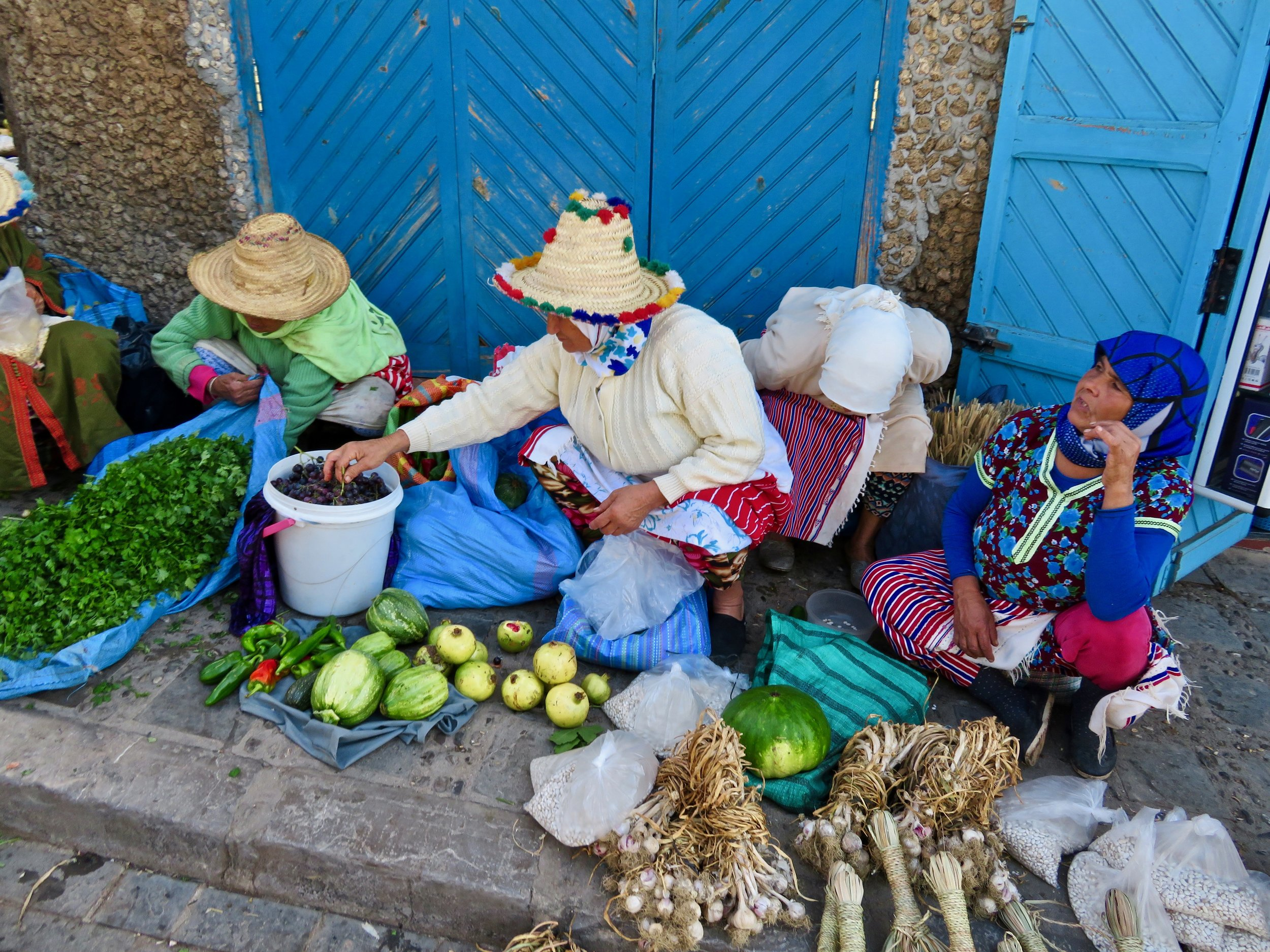 """Local market in Chefchaouen, the """"Blue City"""""""