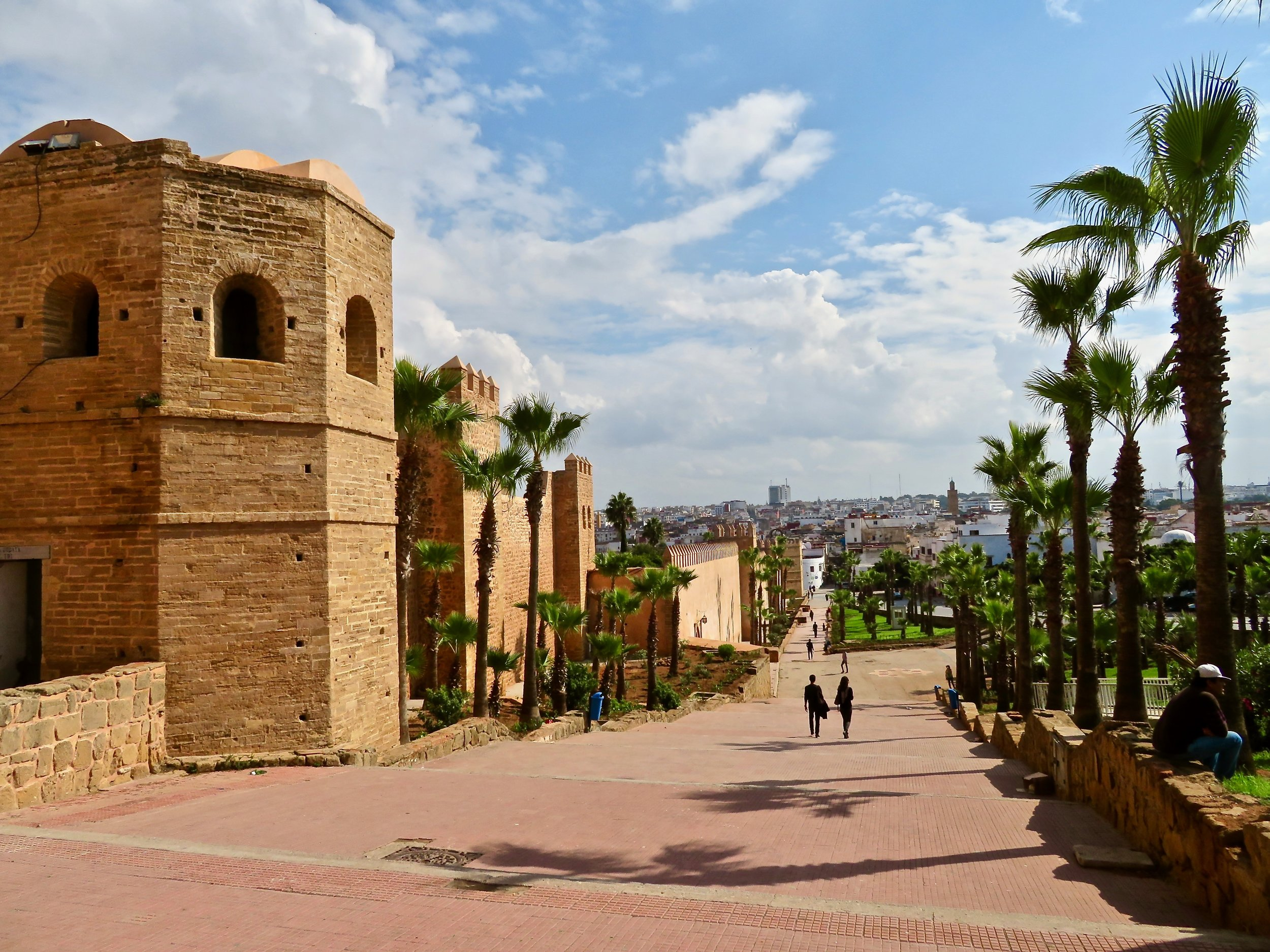 The walls of the kasbah, Meknès