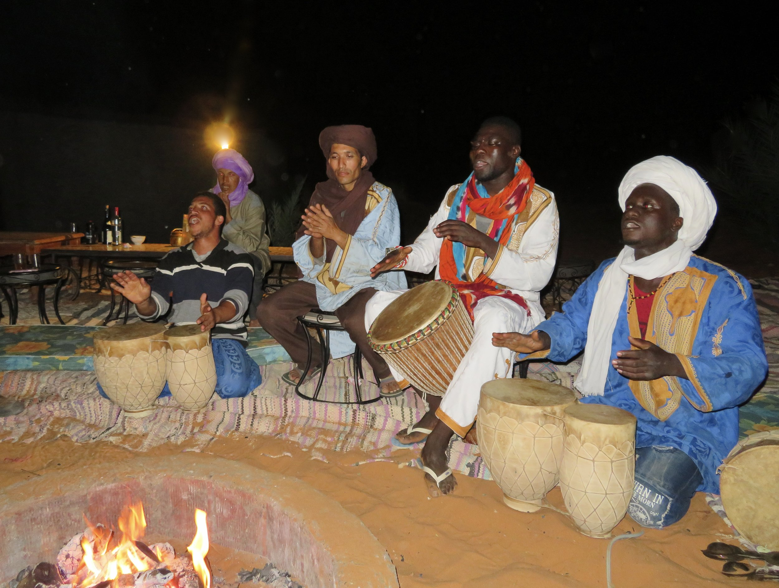 Berber music around the fire