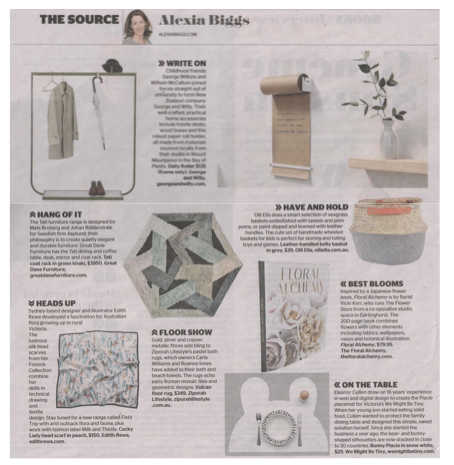 FLORAL ALCHEMY, BEST BLOOMS BLUB IN THE SYDNEY MORNING HERALD ON OCTOBER 1ST 2016