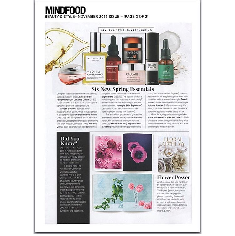 FLORAL ALCHEMY IN THE NOVEMBER ISSUE OF MINDFOOD MAGAZINE!
