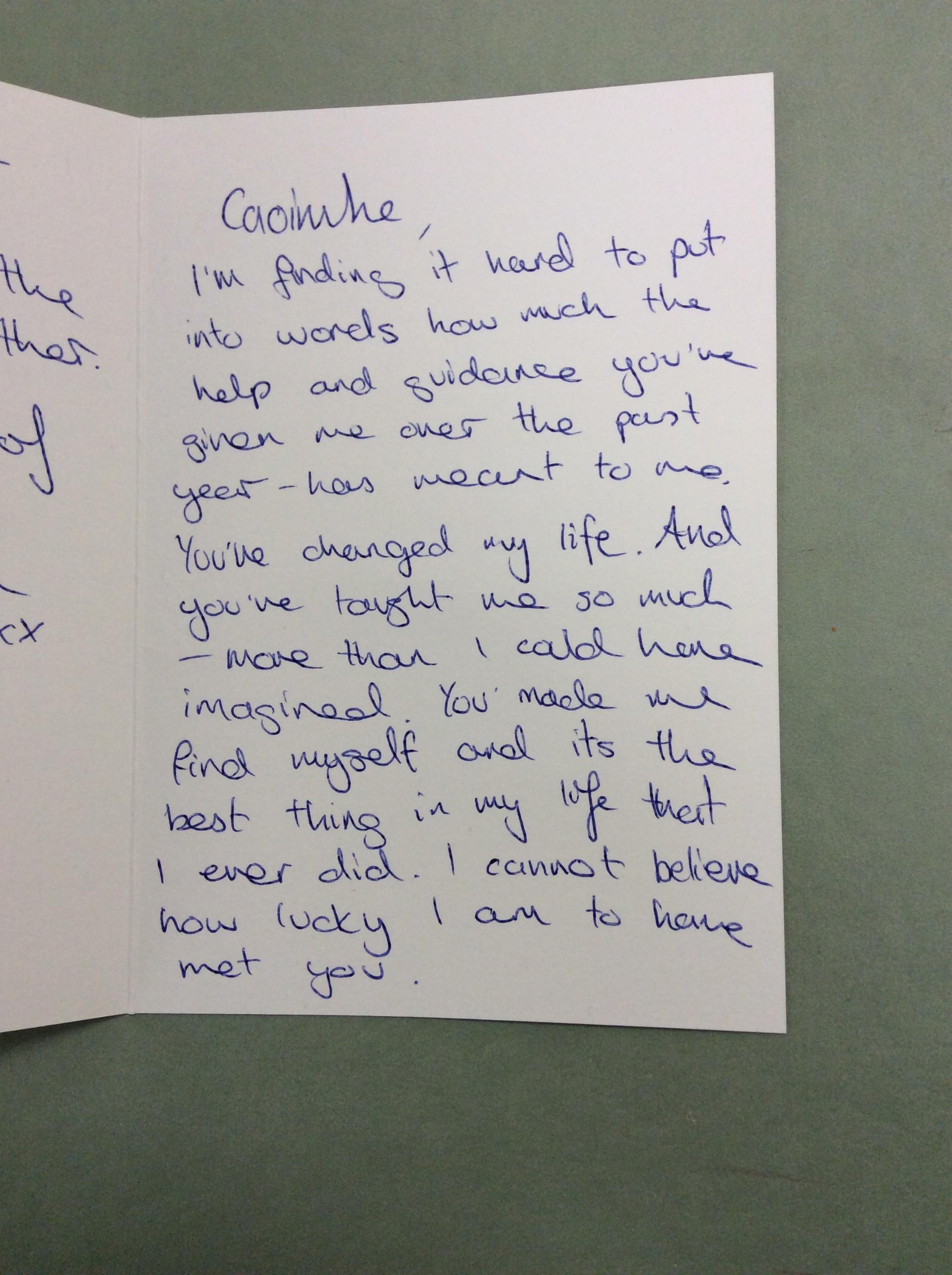 Caoimhe Harrison testimonial