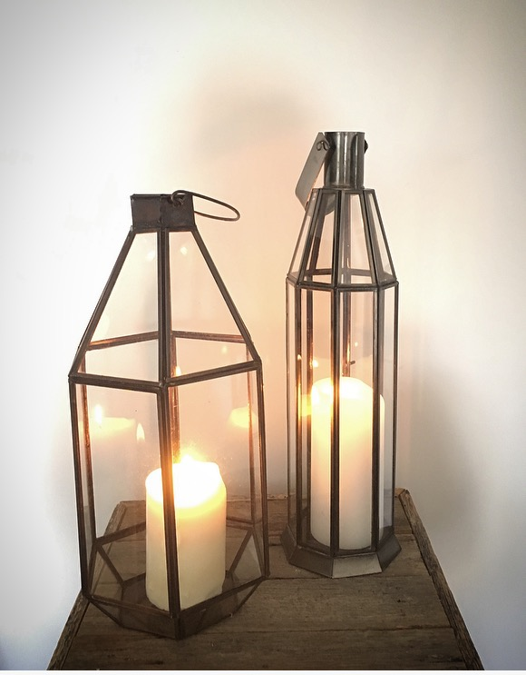 Brass Lanterns  2 x narrow lanerns 2 x fat lanterns  $15 each