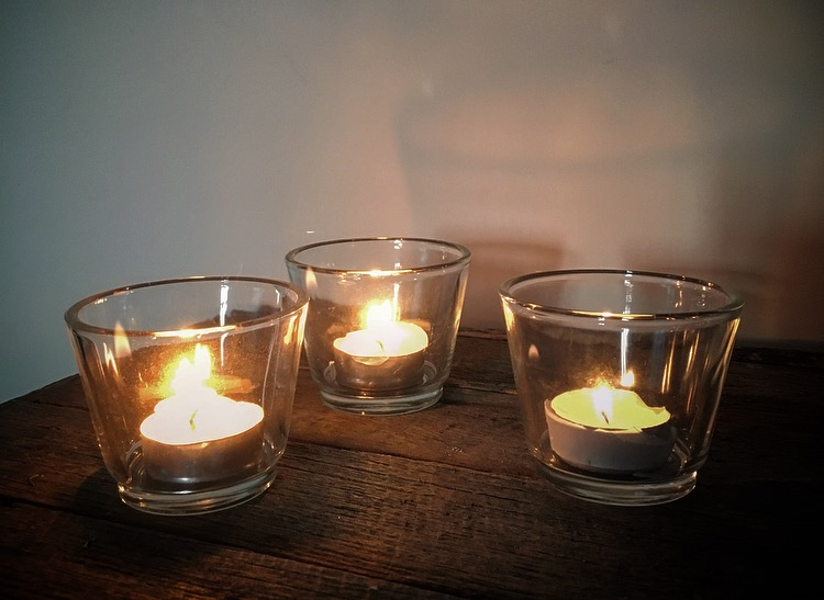 Plain Glass Votive  $10 for a set of 10