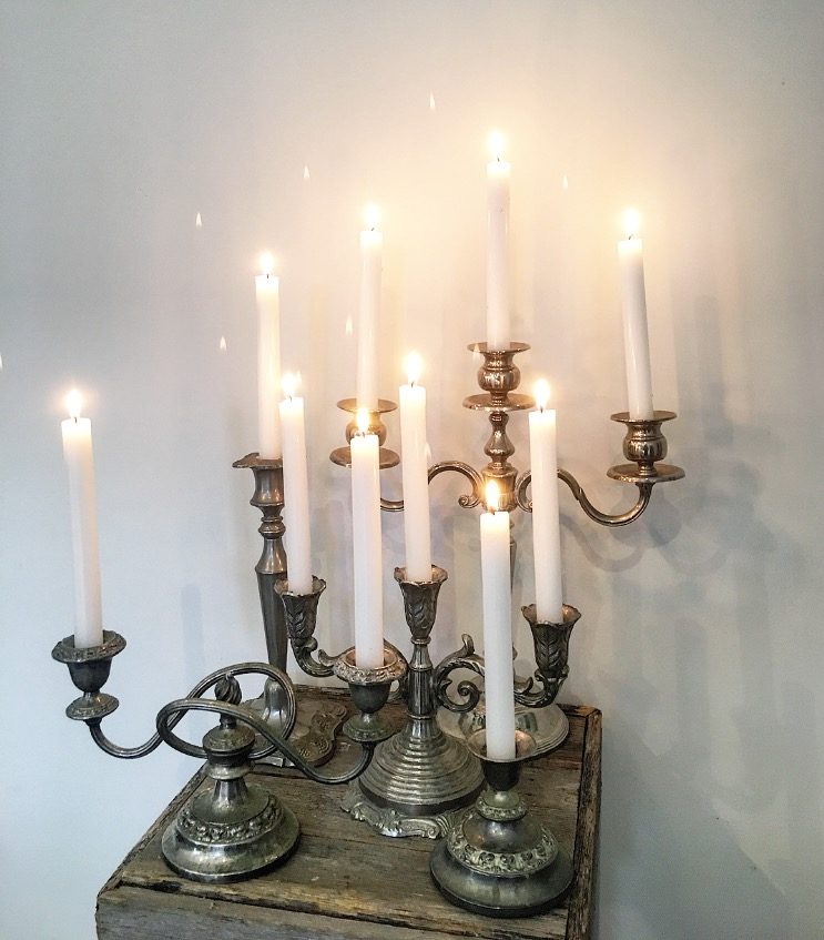 Tainted Silver Candlesticks  Starting at $5.00 each