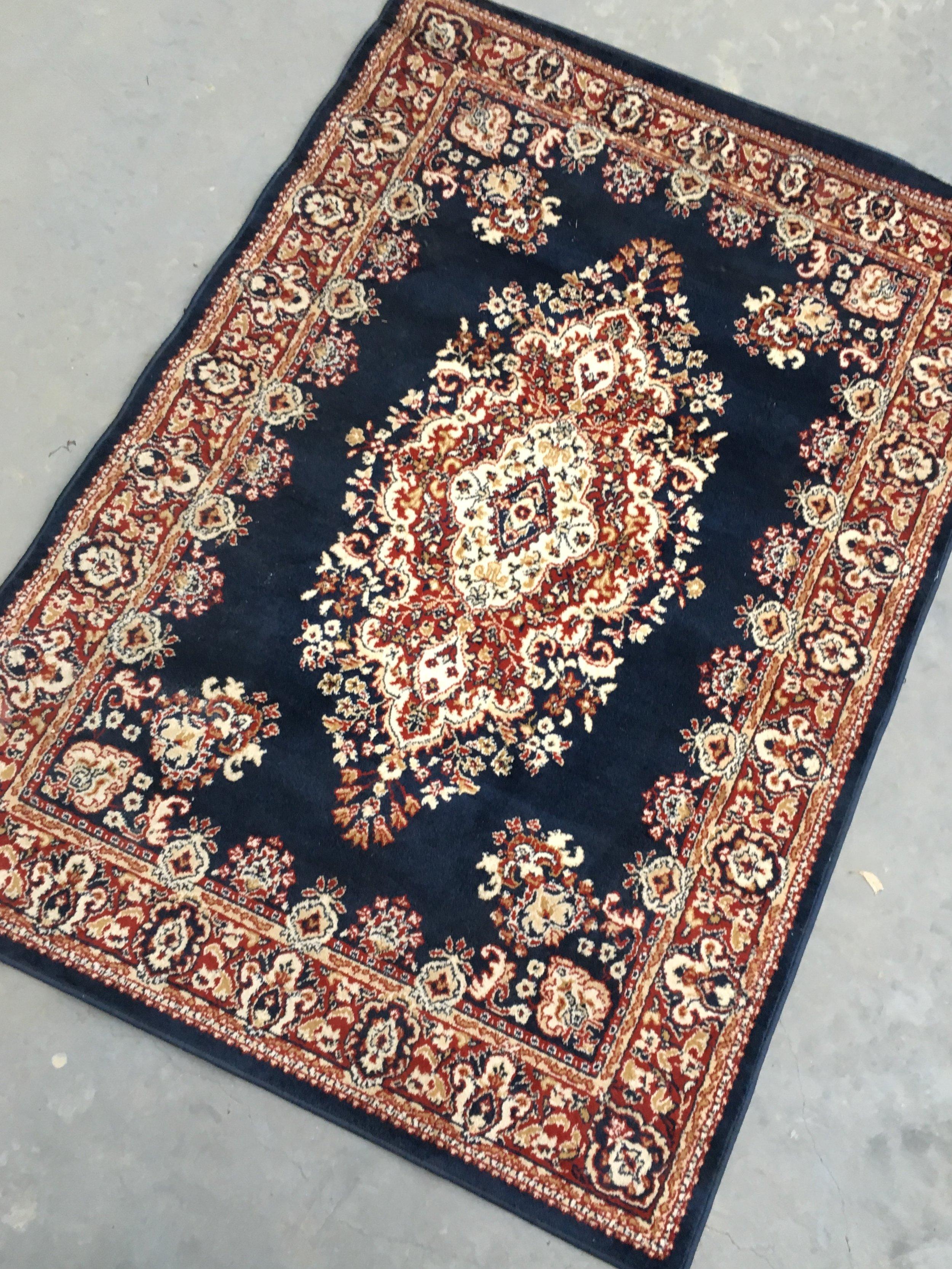 Blue Persian Rug  1.6m x 2.3m  $45