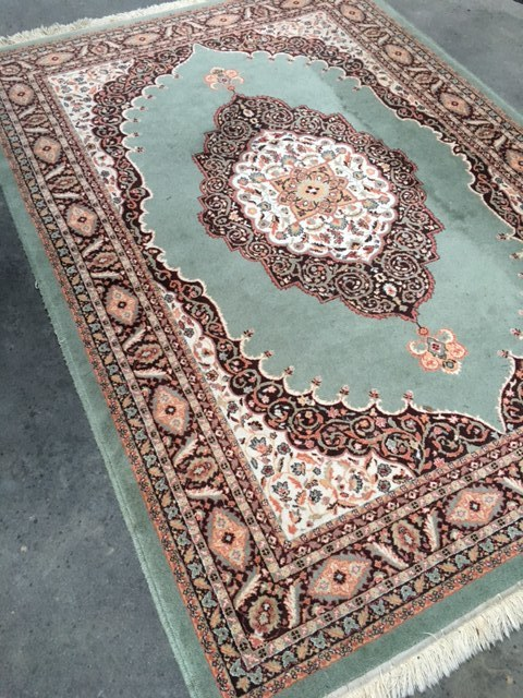 Pale Green Persian Rug  2.5m x 1.7m  $45