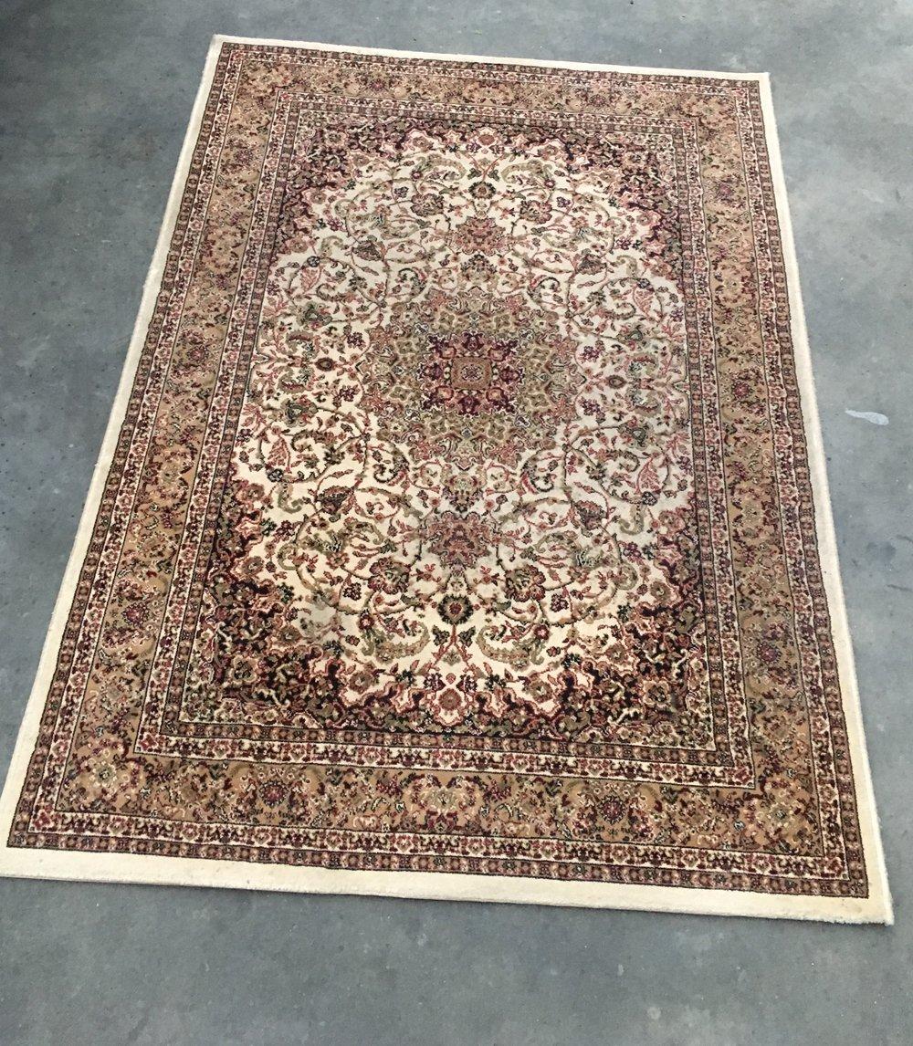 Medium Cream Floor Rug  1.7m x 1.2m  $30