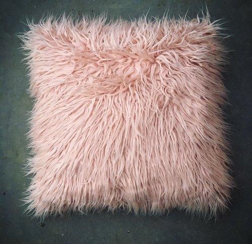 Shaggy Pink Cushion