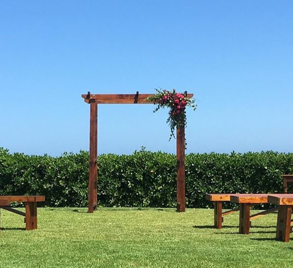 Timber Arbour (flowers and foliage not included)  $120