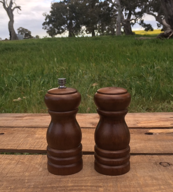 Wooden Pepper Grinder and Salt Shaker