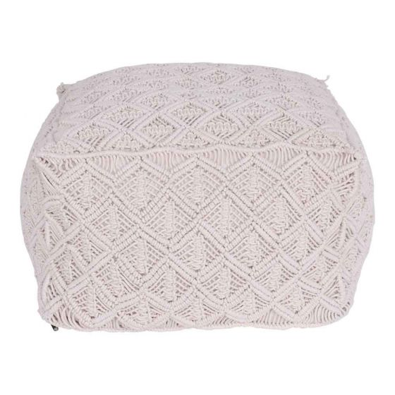 Natural Weave Ottoman  50cm x 50cm x 30cm