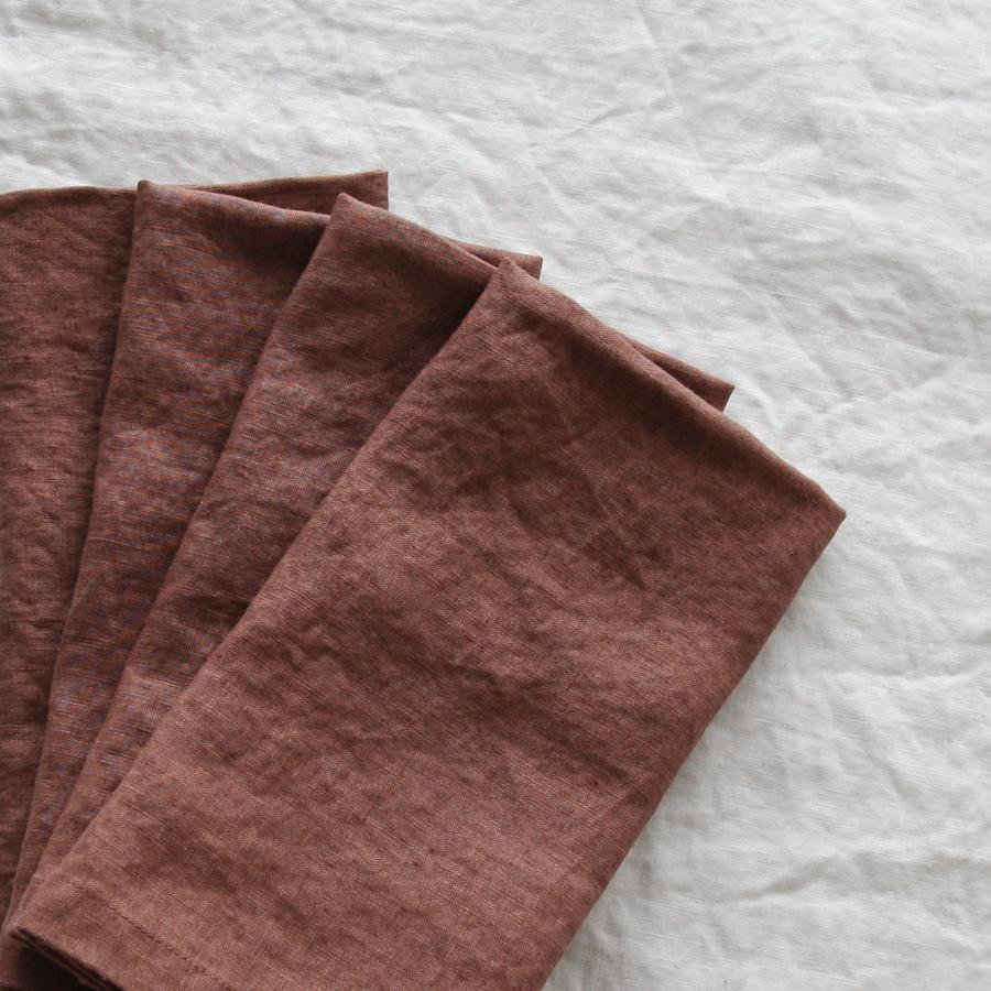 Native Berry French Linen Napkin  45cm x 45cm  $1.80 each