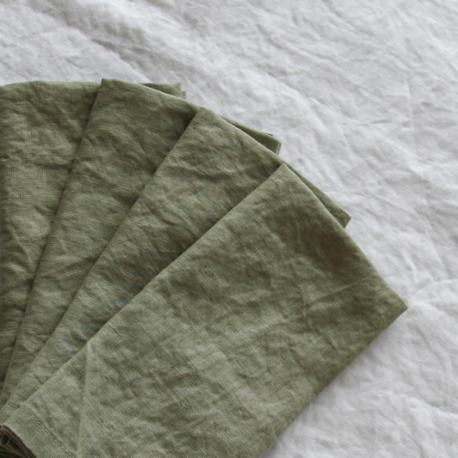 Eucalyptus French Linen Napkin  45cm x 45cm  $1.80 each
