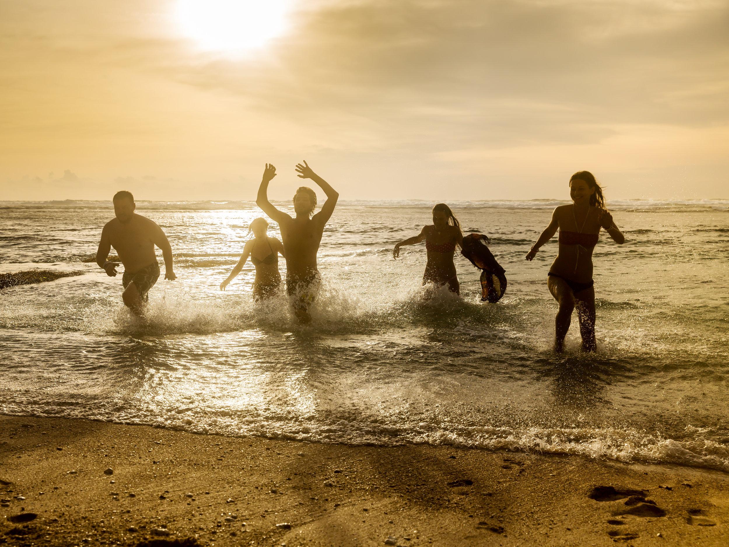 Sunset swim - Spain