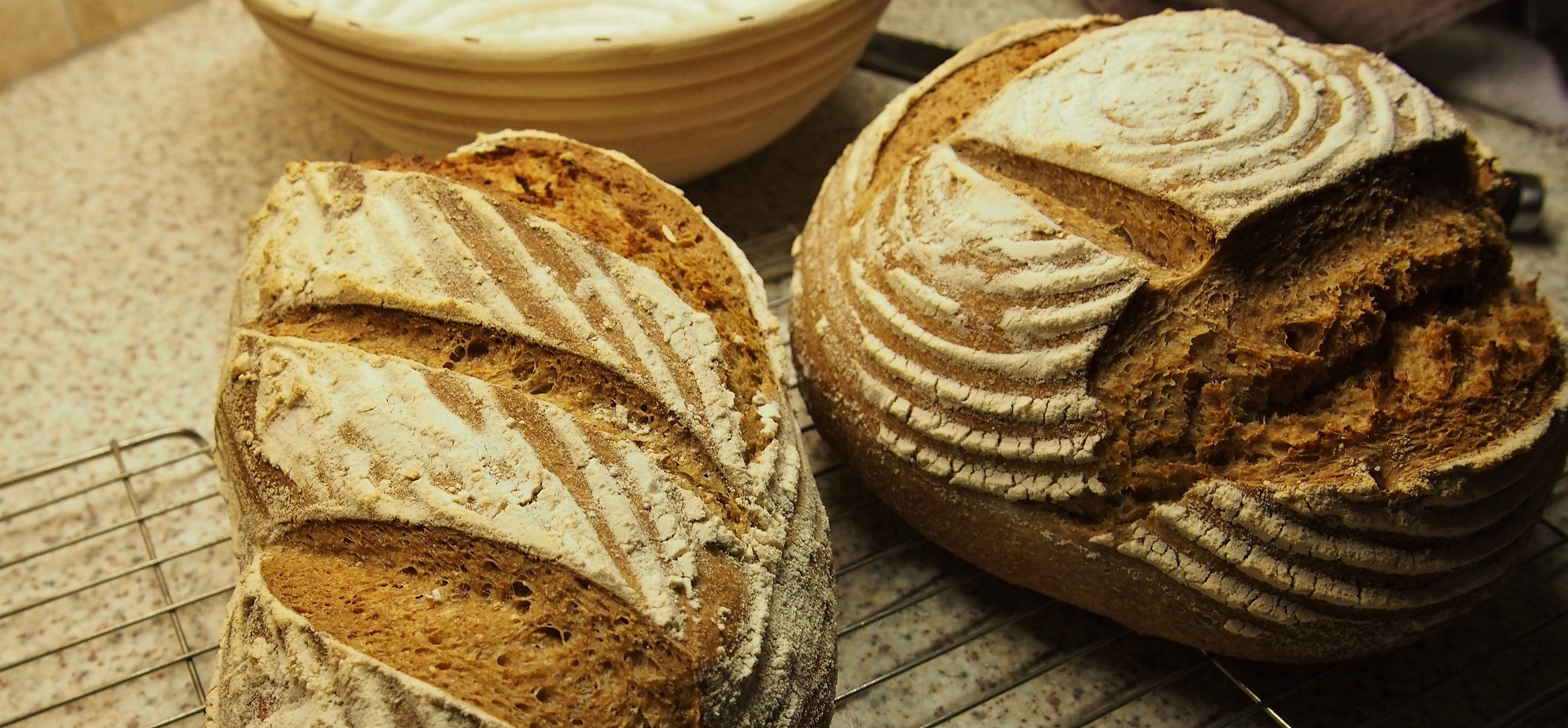 Fresh homebaked bread every day at Church house