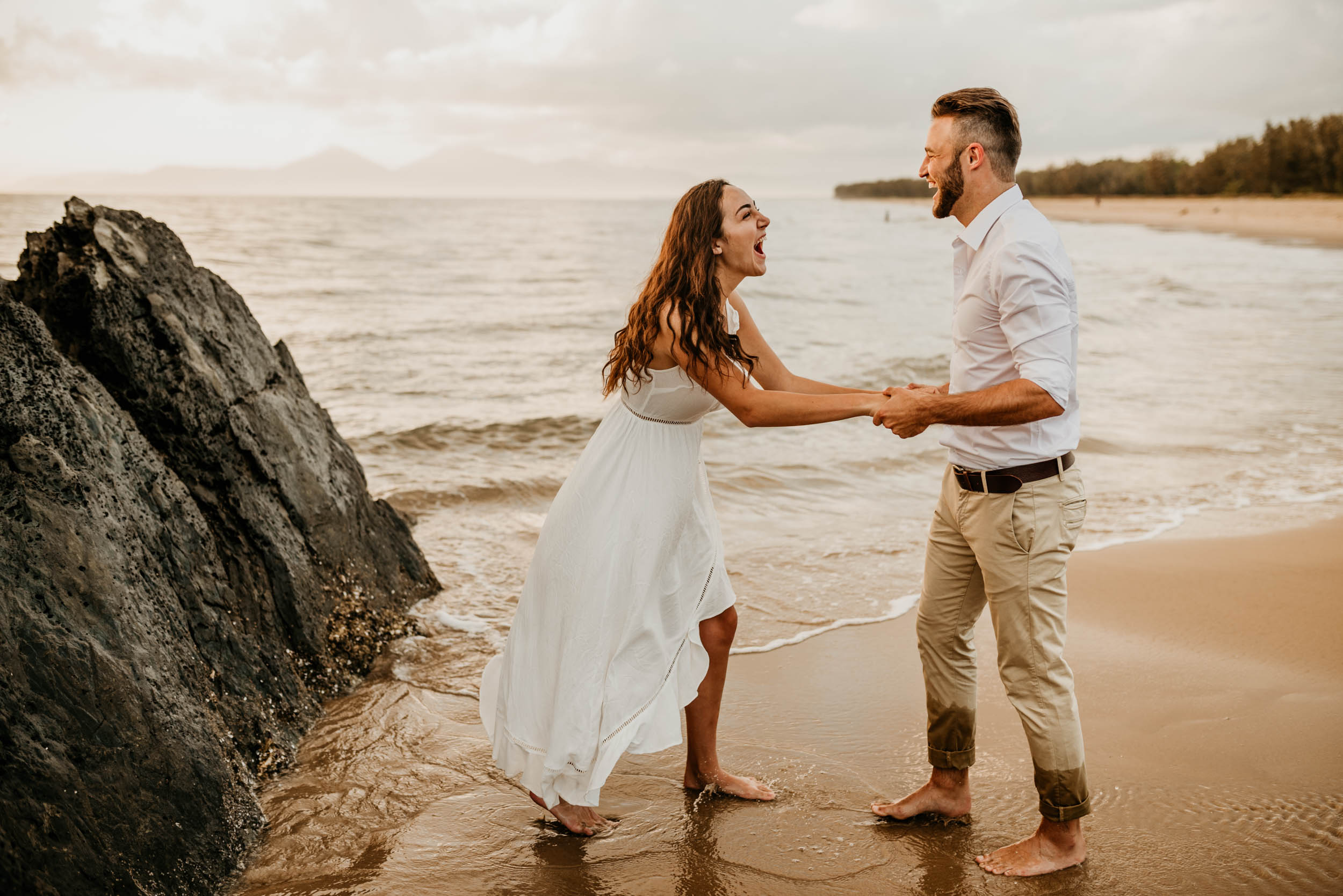 The Raw Photographer - Cairns Wedding Photographer - Engaged Engagement - Beach location - Candid Photography Queensland-32.jpg