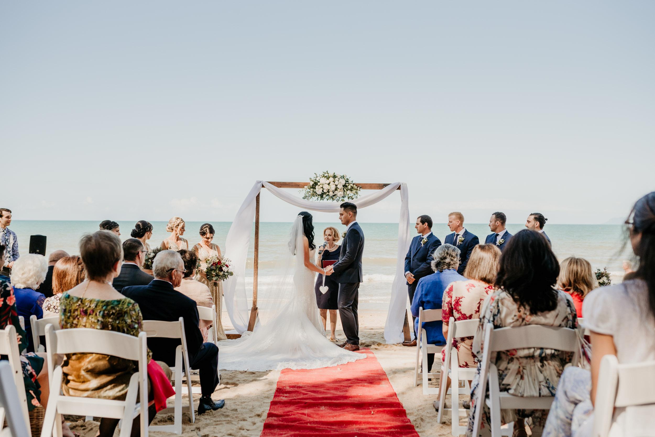 The Raw Photographer - Cairns Wedding Photographer - Beach Palm Cove Ceremony - Dress Irene Costa's Devine Bridal - Queensland-32.jpg