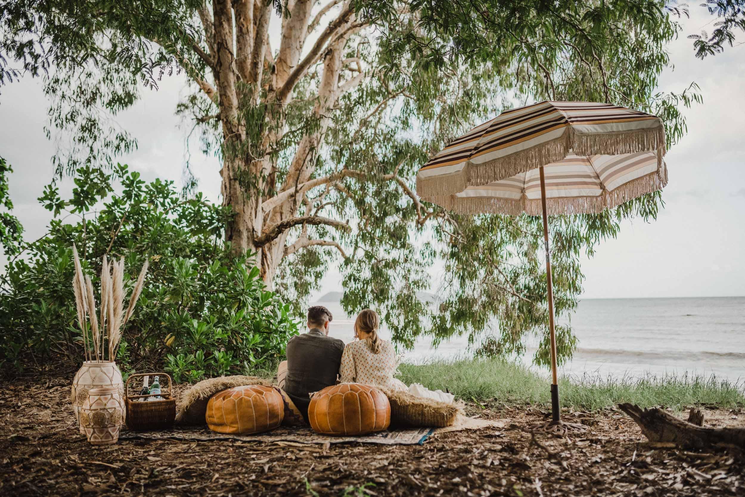 The Raw Photographer - Cairns Wedding Photographer - Beach Engagement Shoot - Candid Picnic-3.jpg