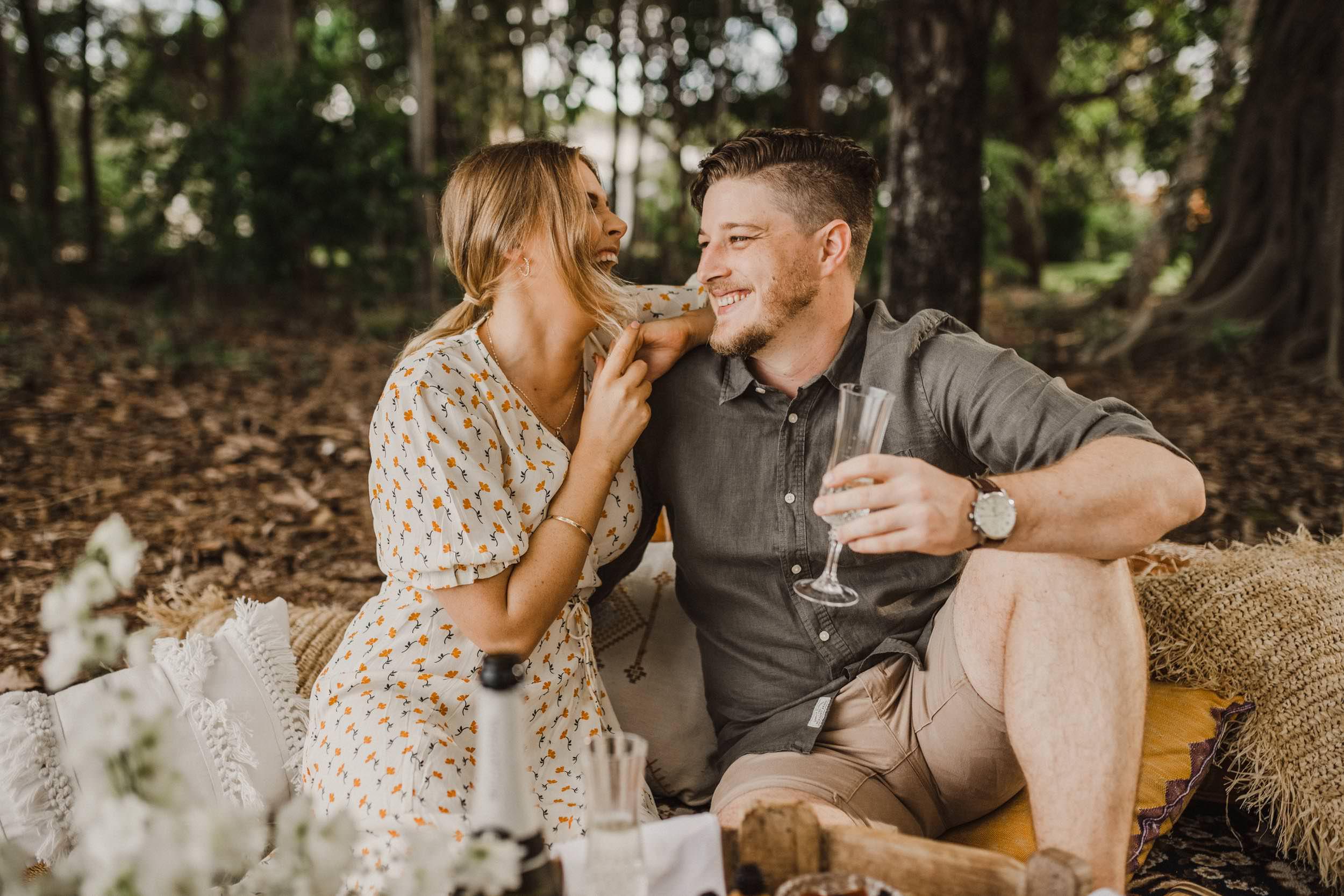 The Raw Photographer - Cairns Wedding Photographer - Beach Engagement Shoot - Candid Picnic-6.jpg