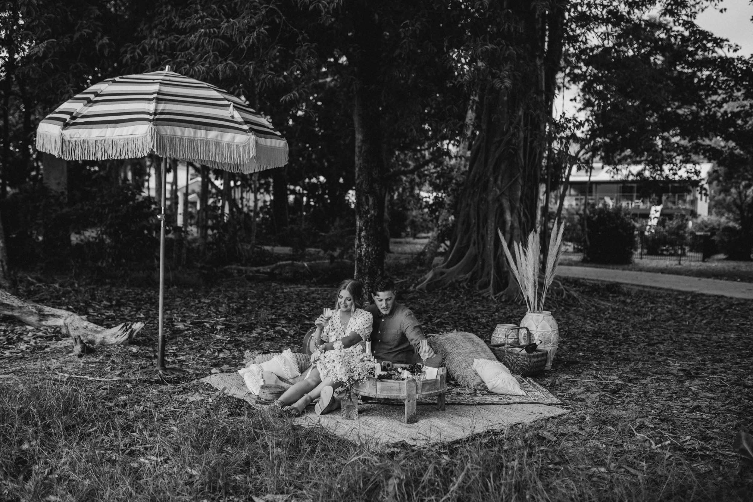 The Raw Photographer - Cairns Wedding Photographer - Beach Engagement Shoot - Candid Picnic-7.jpg