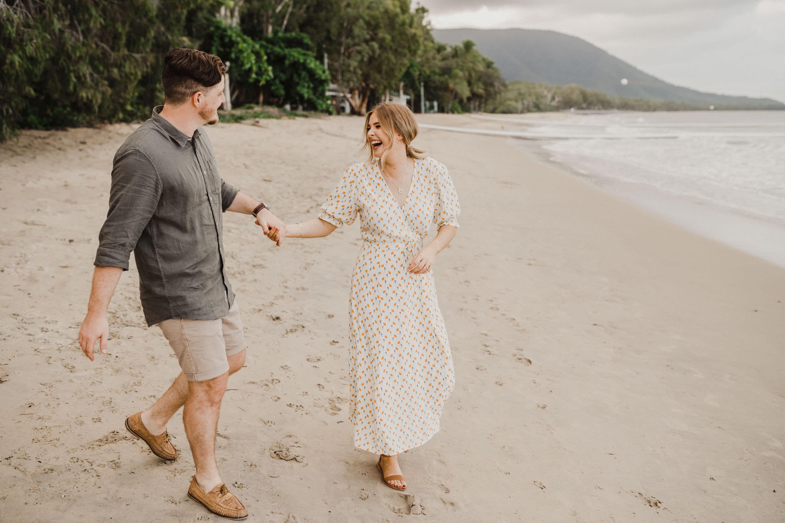 The Raw Photographer - Cairns Wedding Photographer - Beach Engagement Shoot - Candid Picnic-17.jpg