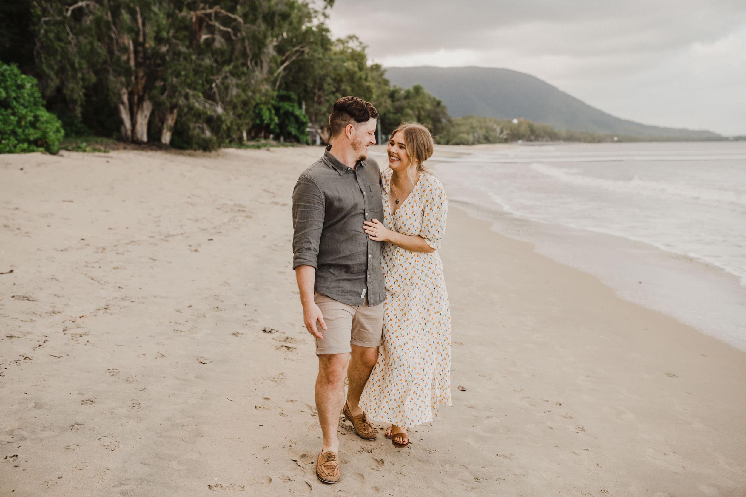 The Raw Photographer - Cairns Wedding Photographer - Beach Engagement Shoot - Candid Picnic-18.jpg