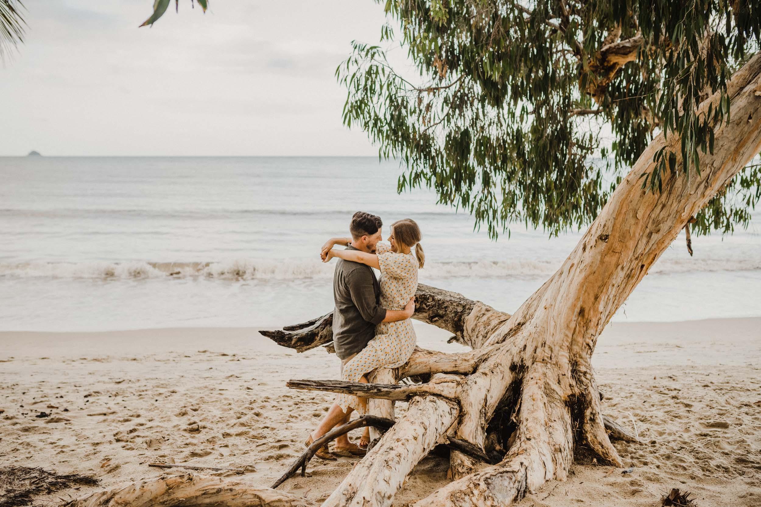 The Raw Photographer - Cairns Wedding Photographer - Beach Engagement Shoot - Candid Picnic-19.jpg