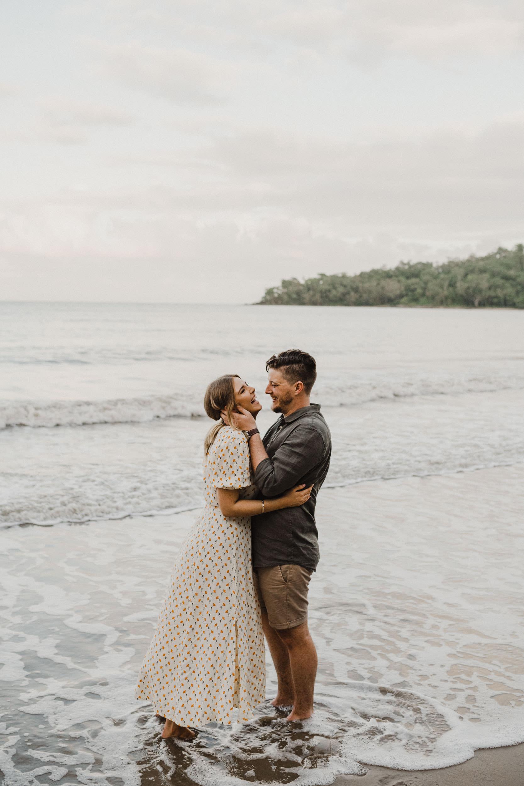 The Raw Photographer - Cairns Wedding Photographer - Beach Engagement Shoot - Candid Picnic-29.jpg