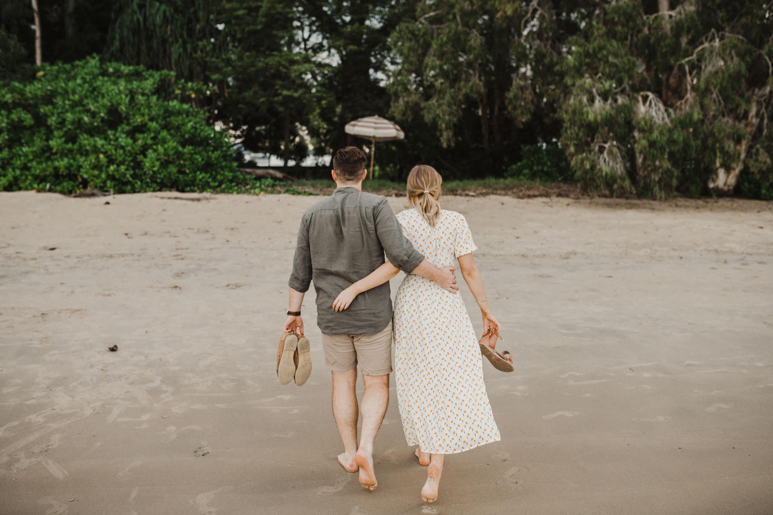 The Raw Photographer - Cairns Wedding Photographer - Beach Engagement Shoot - Candid Picnic-30.jpg