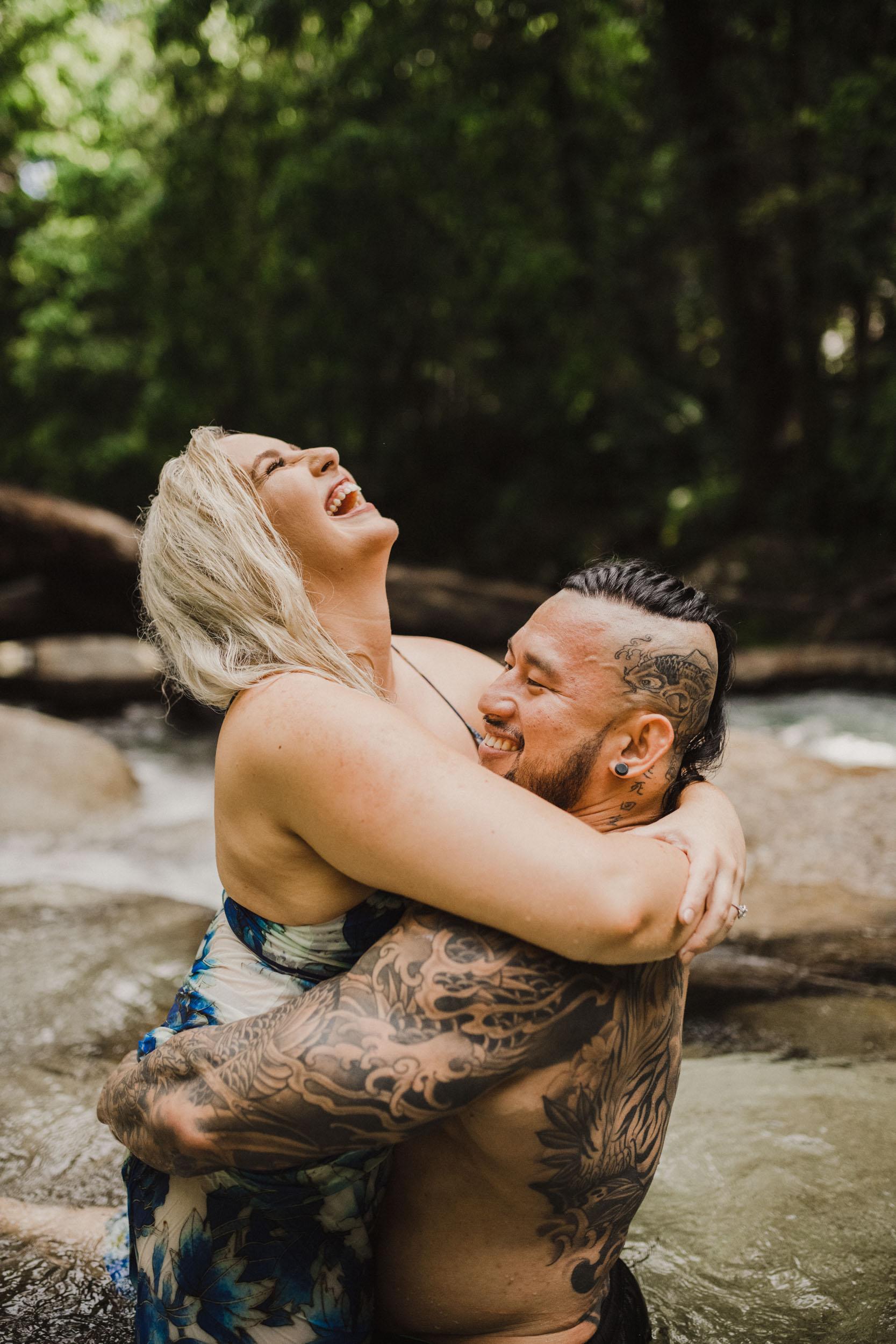 The Raw Photographer - Cairns Wedding Photographer - Rainforest engagement shoot location - Queensland Photography - candid nature-15.jpg