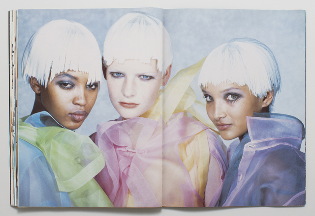 Comme des Garçons SS89 – featuring a baby Naomi Campbell – by Peter Lindbergh (image: VFiles )