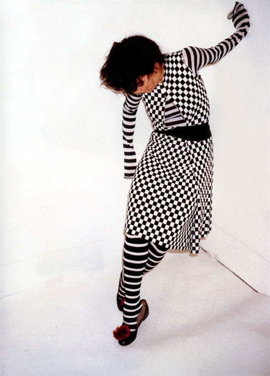 Björk in SS01 Comme des Garçons for  Self Service (image: Juergen Teller)