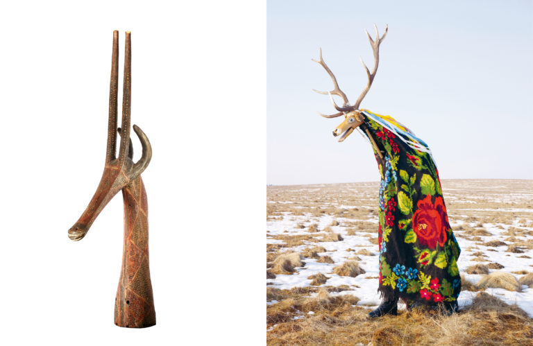 Antilope mask, Kurumba, Burkina Faso (20th century) – Charles Fréger, Cerbul,Romania, (2010-2011)