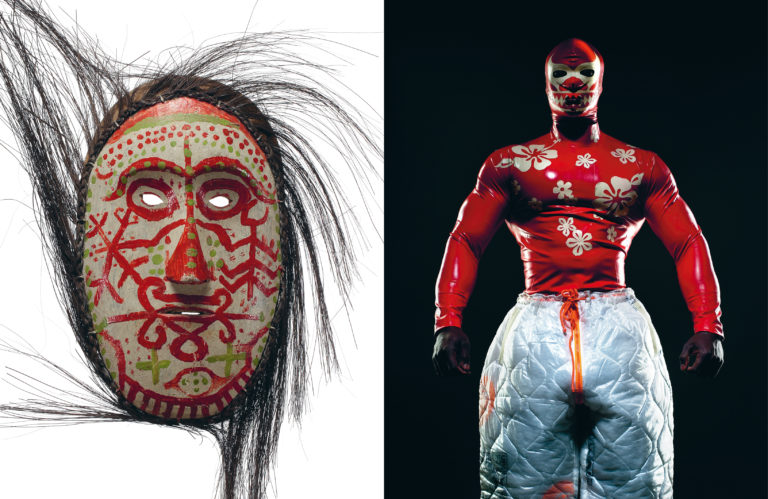 Face mask, Simalungun, Dolog Silou – W.&L.T. (Wild & Lethal Trash), Paradise Pleasure Productions,AW95 (image: Ronald Stoops)