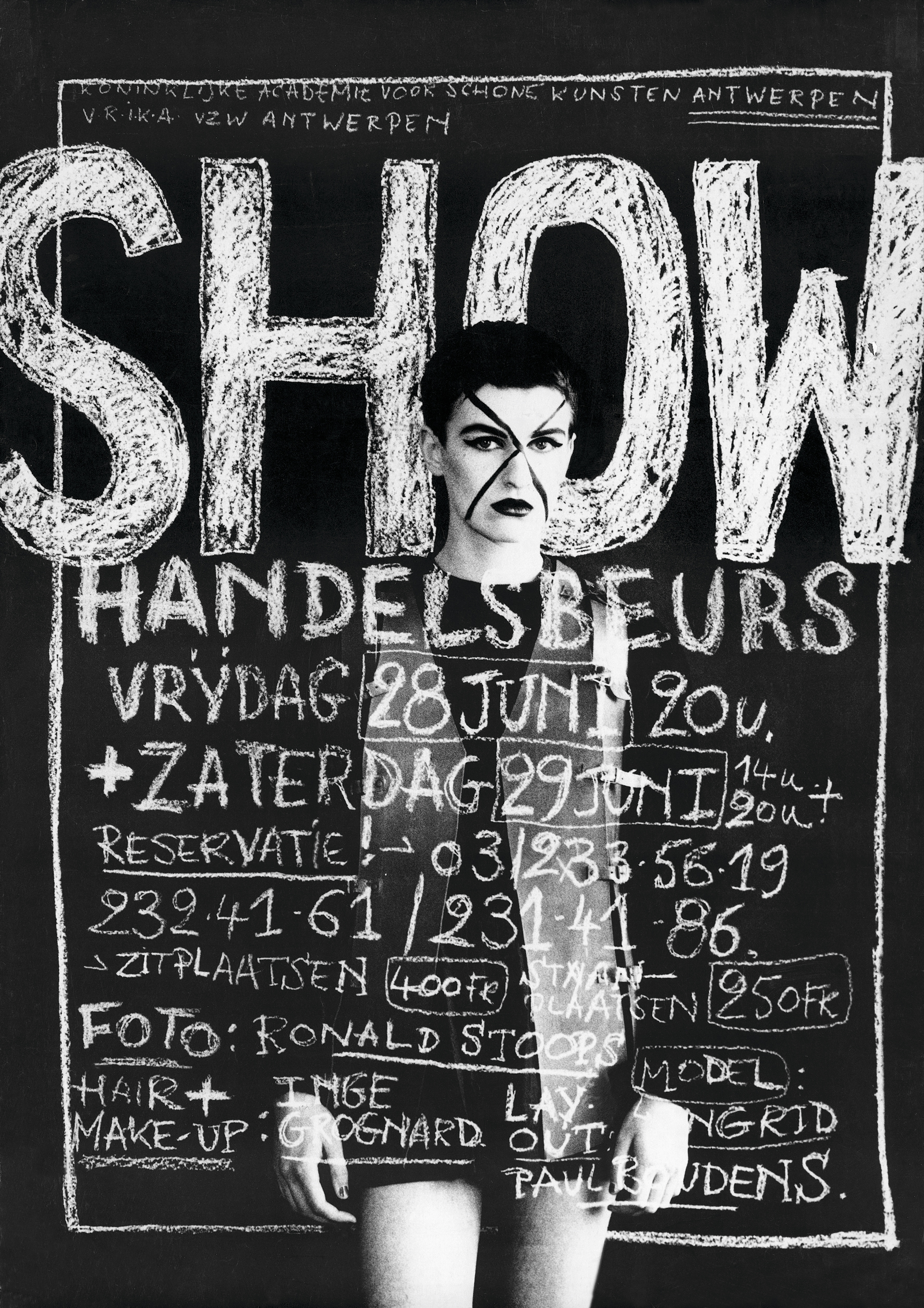 1991 Royal Academy of Fine Arts Antwerp - Fashion Department show poster