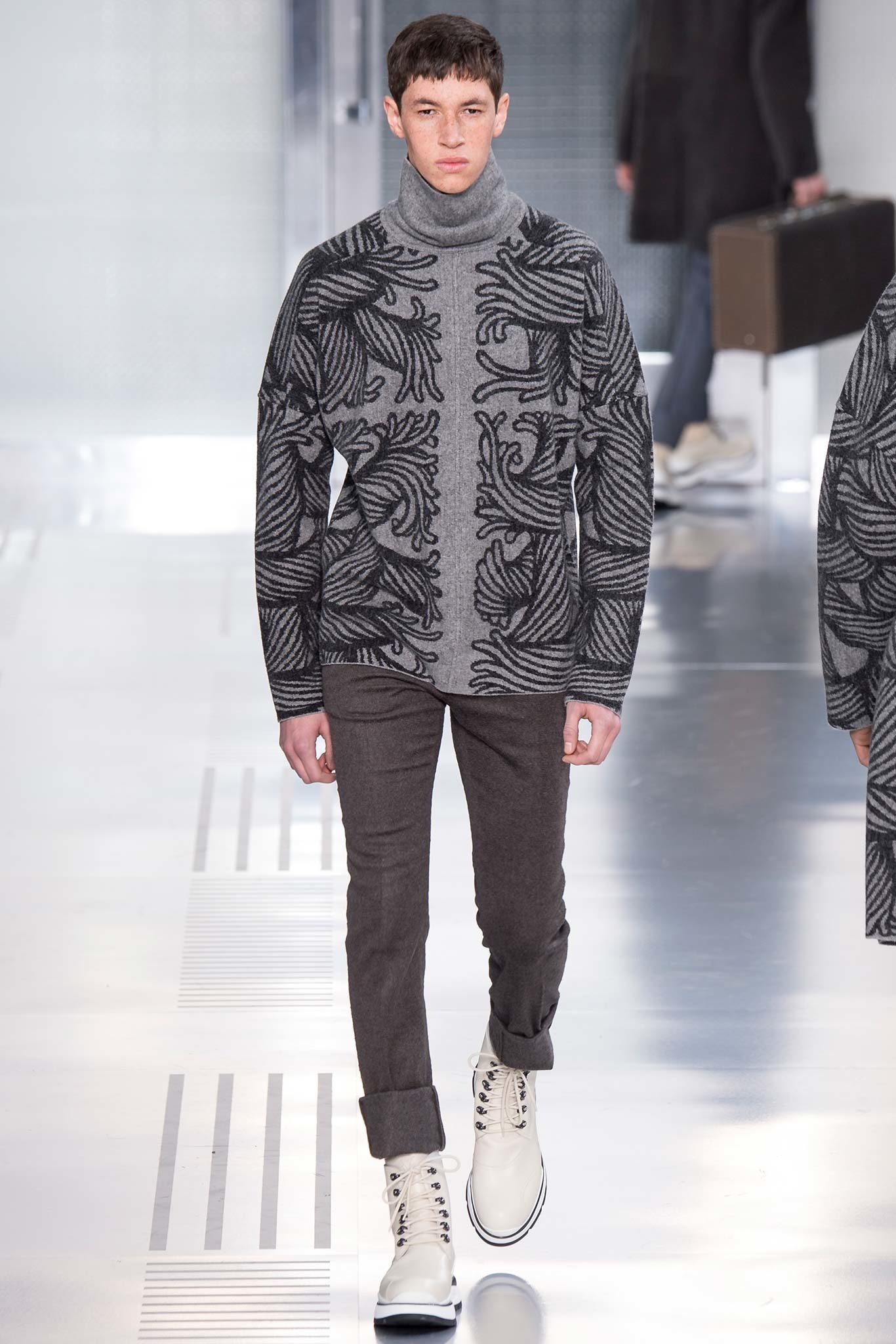AW14 (archive prints by Jones's late mentor, Christopher Nemeth)