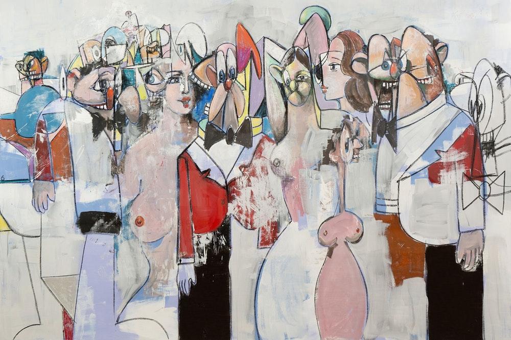 'Field of Figures' (2011) - George Condo