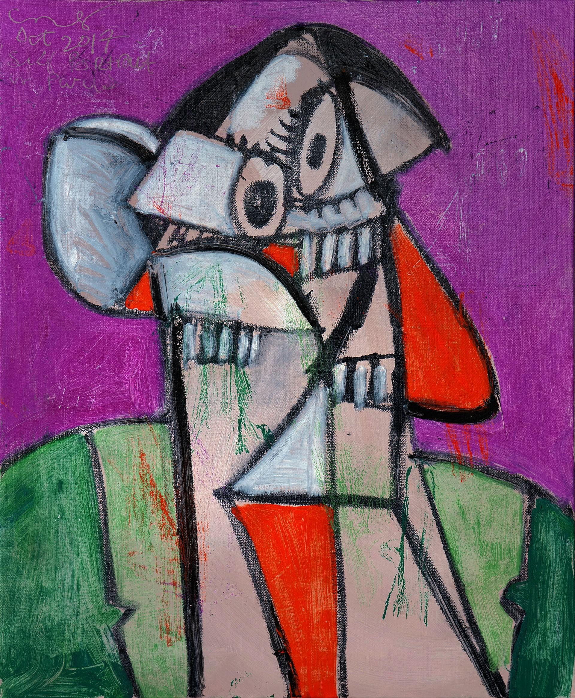 'Self Portrait in Paris 1' (2017) - George Condo