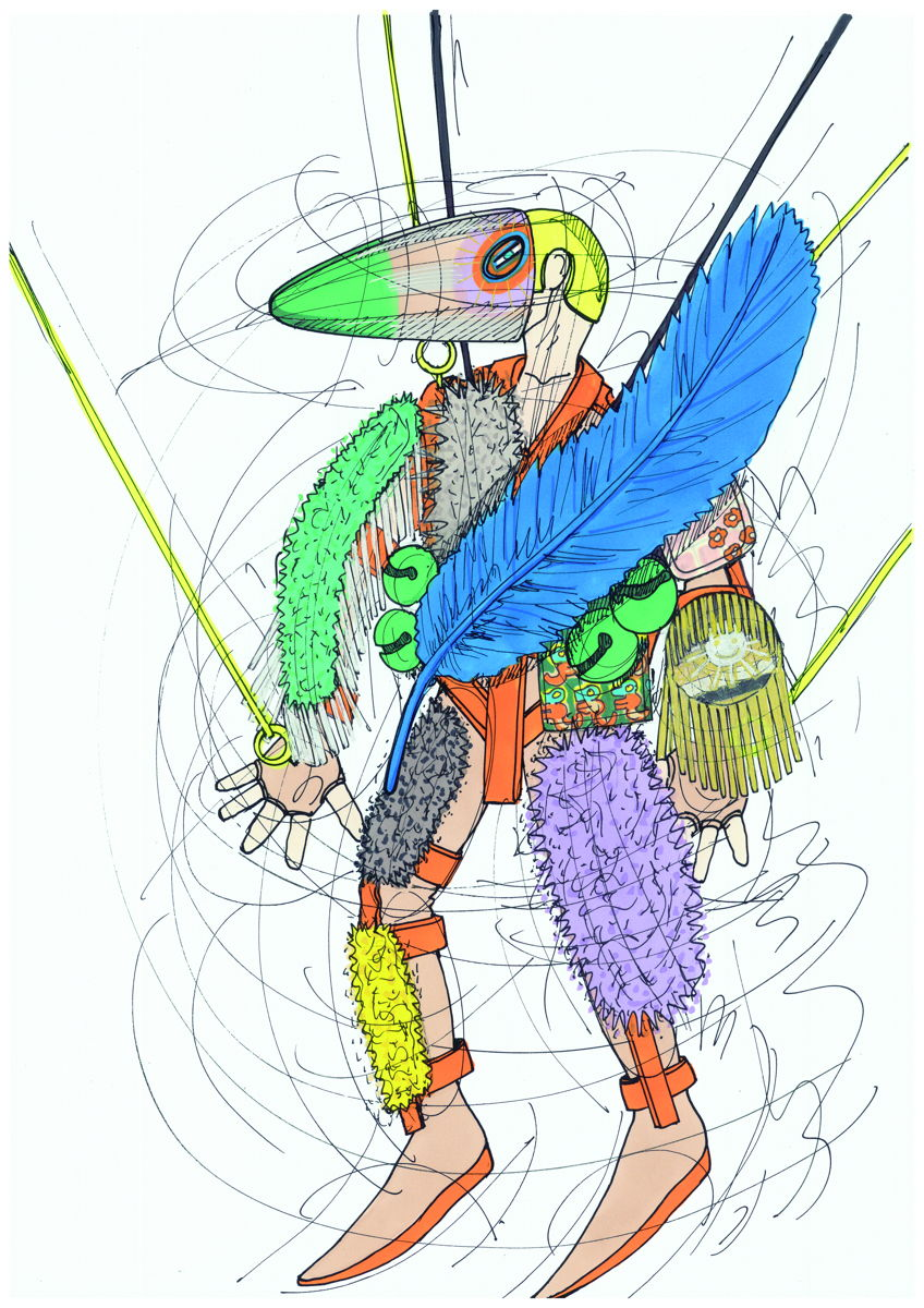 Drawing courtesy of Walter Van Beirendonck