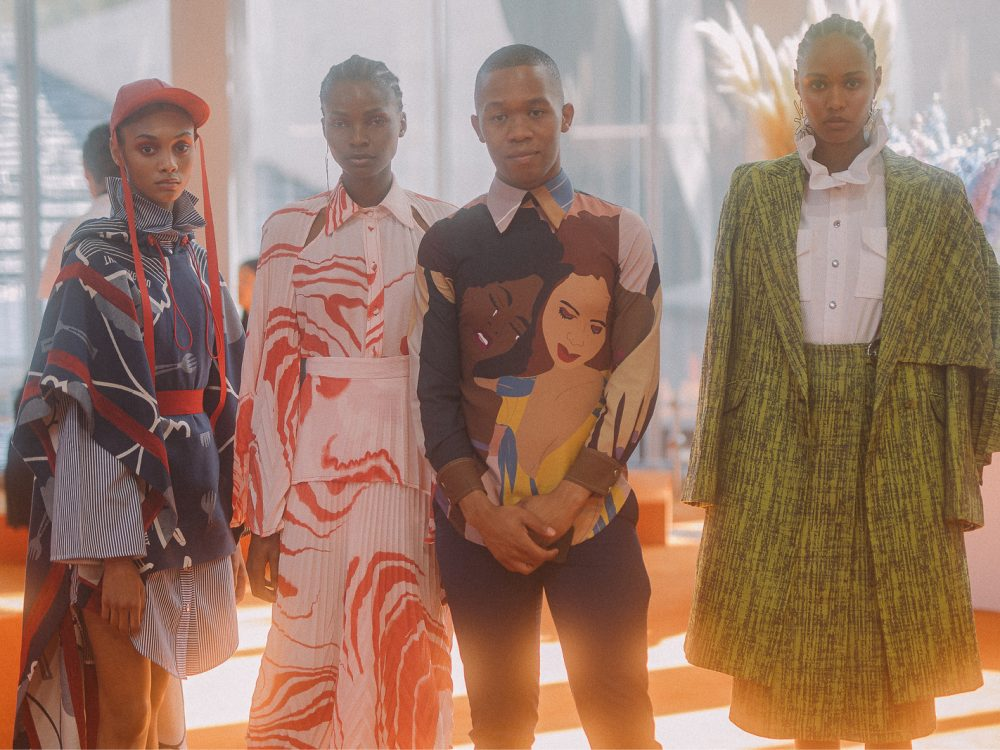Thebe Magugu at the LVMH Prize HQ - (c) image Virgile Guinard